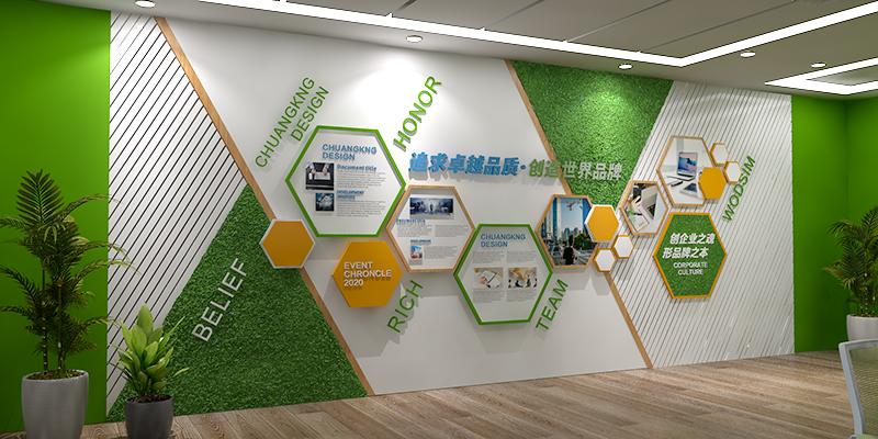 公司办公室形象墙设计应当怎么设计?