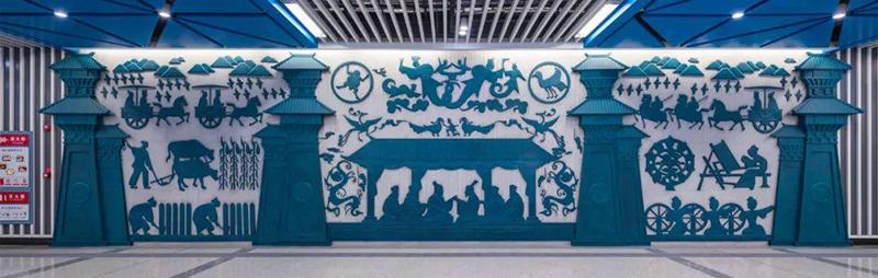 西安地铁文化墙设计,火了!